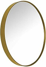 Pharao24 Garderoben Spiegel in Goldfarbebn Metall