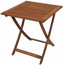 Pharao24 Gartentisch aus Holz massiv klappbar