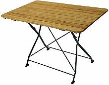 Pharao24 Gartentisch aus Robinie massiv klappbar