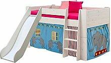 Pharao24 Halbhohes Kinderbett mit Rutsche Zirkus