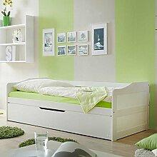 Pharao24 Jugendbett mit Gästebett Weiß