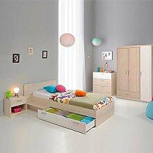 Pharao24 Jugendzimmermöbel Set in Akazie Weiß Online kaufen (4-Teilig)