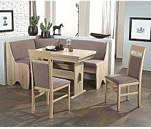 Pharao24 Küchen Sitzgruppe mit Eckbank Grau und