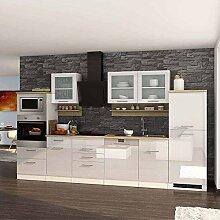 Pharao24 Kücheneinrichtung in Weiß Hochglanz