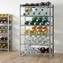 Pharao24 Küchenregal für Flaschen Stahl