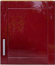 Pharao24 Küchenschrank in Rot Buche Dekor