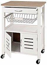 Pharao24 Küchenwagen mit Türen Weiß