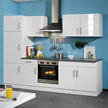 Pharao24 Küchenzeile Cando in Weiß Grau