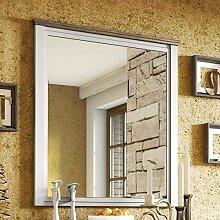 Pharao24 Landhaus Spiegel in Weiß Eiche Absetzung