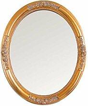 Pharao24 Ovaler Spiegel in Gold Barock Breite 57