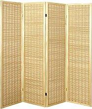 Pharao24 Paravent Bambus 4-teilig Chico