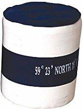 Pharao24 Pouf im Maritim Design Blau Weiß