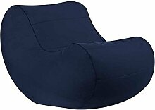 Pharao24 Sitzsack Sessel in Blau Modern