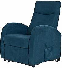 Pharao24 TV Sessel in Blau mit Motor