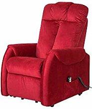 Pharao24 TV Sessel in Rot Motor und Aufstehhilfe