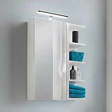 Pharao24 Weißer Spiegelschrank mit LED