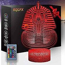Pharaoh 3D Optische Illusionslampe 3D Nachtlicht