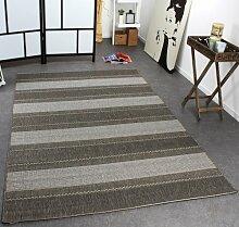 PHC Teppich Modern Flachgewebe Gestreift Designer