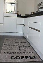 PHC Teppich Sisal Optik in Grau mit Schriftzug espresso, cappuccino, coffee Neu*OVP, Grösse:160x230 cm
