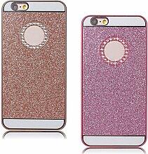 Pheant® [2in 1] für iPhone 7 Schutzhülle Glitzer Hülle Harte Schale Handyhülle im Glänzen Design Rosegold Rosa