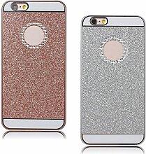 Pheant® [2in 1] für iPhone 7 Schutzhülle Glitzer Hülle Harte Schale Handyhülle im Glänzen Design Rosegold Silber