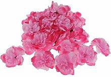 Phenovo 50pcs Künstliche Blumen Kunstblumen Rose Blumen Köpfe Hausdeko Wedding Deko - Rosa
