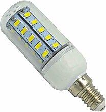 Phigoning 1 Stück E14 LED 6W Lampe Mais Licht Ersatz für Glühlampe 36 SMD 5730 Energiesparlampe Leuchtmittel E14 LED Birne AC220-240V Kaltweiß