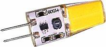 Phigoning 10 Stück 3W G4 LED Lampe COB Nicht Dimmbar G4 LED Lampe COB 1508 G4 3W LED Leuchtmittel AC/DC12V Warmweiß