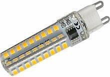 Phigoning 10 Stück Dimmbar G9 LED Lampe 6W Warmweiß 72x2835 SMD Mit Silikon Mantel AC220-240V