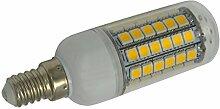 Phigoning 10 Stück E14 8W 69x5050 SMD LED Lampe Leuchtmittel Birne E14 LED Lampe 8W SMD LED Mais Licht AC220-240V Warmweiß