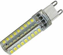 Phigoning 5 Stück Dimmbar G9 LED Lampe 6W Kaltweiß 72x2835 SMD Mit Silikon Mantel AC220-240V