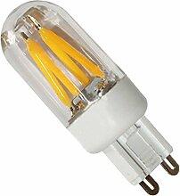 Phigoning 5 Stück G9 LED Leuchtmittel 3W Dimmbar LED Birne Lampe Warmweiß Super Energiesparend G9 Dimmbar Glühfaden Licht (Warmweiß)