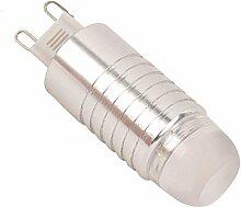 phigoning 5 Stück LED Leuchtmittel G9 3W COB LED Lampe Mit Aluminium Mantel LED G9 Super Energiesparend Licht AC220-240V Warmweiß