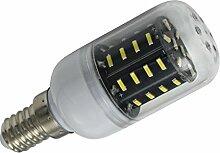 Phigoning 6 Stück E14 4W LED lampe Leuchtmittel E27 LED Birne Mais Licht 36x 4014 SMD LEDs Mit PC Material Super Energiesparend Licht AC220-240V Kaltweiß