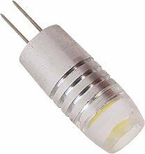 Phigoning 8 Stück G4 1.5W LED COB Lampe G4 LED Leuchtmittel Birne Mit Aluminium Mantel G4 LED Energiespar Licht Kaltweiß (DC/AC12V)