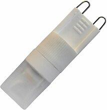 Phigoning 8 Stück LED G9 1.5W Dimmbar COB LED Lampe Leuchtmittel Birne Mit Keramik körper Super G9 Dimmbar Energiesparend Licht AC 220-240V Kaltweiß