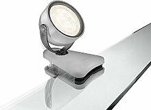 Philips myLiving LED Klemmspot Dyna, EEK A+, grau