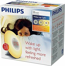 PHILIPS Wake-up Light, Plastik, weiß, 18 x 18 x