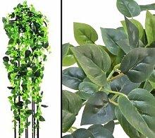 Philobuschranke, Kletterpflanze Classic, 1365 grüne Blätter - Kunstpflanze mit 160cm Länge - Textilpflanzen Dekopflanzen