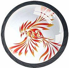 Phoenix 8 Schubladenknöpfe Lupe Abbildung innen