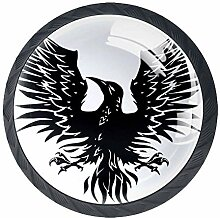 Phoenix Animal Black Kommode Knöpfe Runde