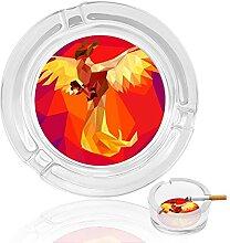 Phoenix Aschenbecher aus Glas, für drinnen und