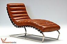 Phoenixarts Chaise Echtleder Vintage Leder