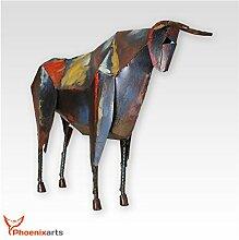 Phoenixarts Metall Eisen Skulptur Stier (47x36x10)