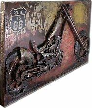 Phoenixarts Moto Harley MetallBild 3D Indian