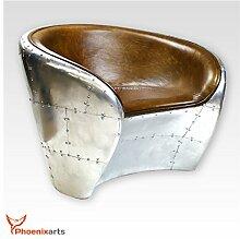 Phoenixarts Vintage Echtleder Schalensessel Design