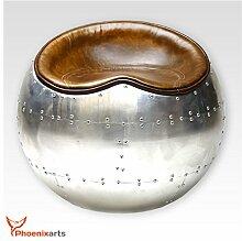 Phoenixarts Vintage Echtleder Sitzhocker Design