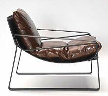 Phoenixarts Vintage Relaxsessel Echtleder Sessel