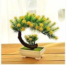 Phoiut Künstliche Blume Topfpflanzen Bonsai