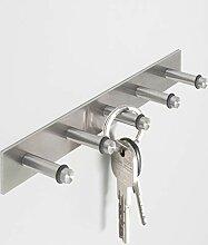 PHOS Edelstahl Design, SB5, Schlüsselbrett mit 5